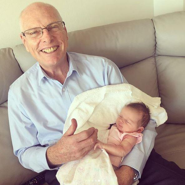 Eliza with her proud grandpa, Jim Molan.