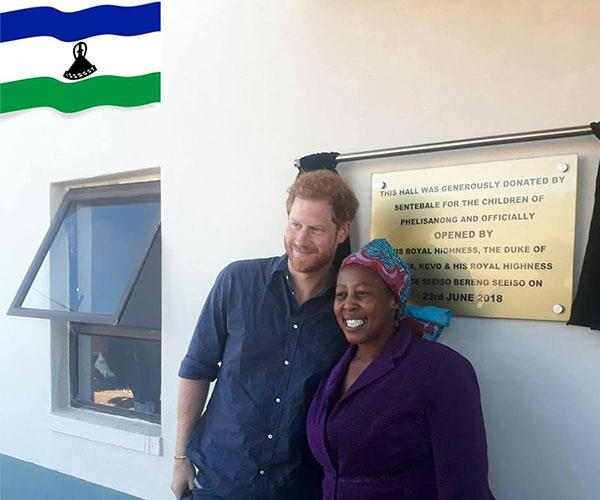 The Duke of Sussex visited Lesotho in southern Africa over the weekend to pay a visit to his beloved charity Sentebale.