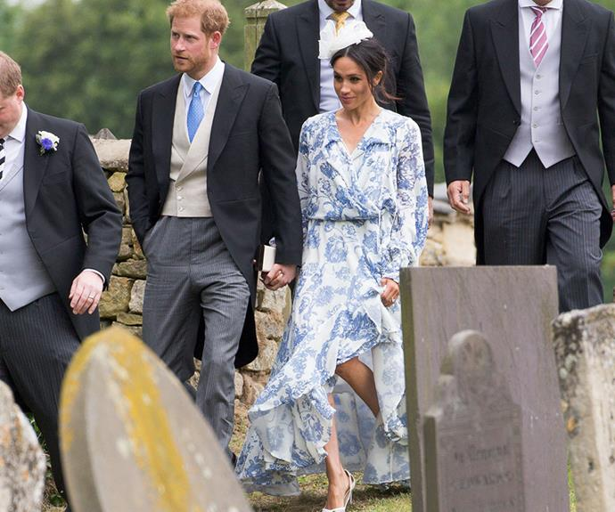 It's believed Prince Harry and Meghan Markle won't be picked as godparents as they are already Louis' uncle and aunt.