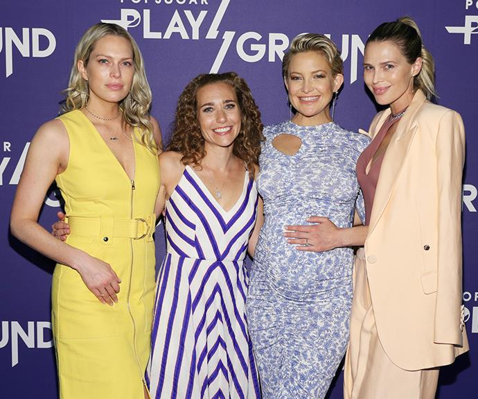 She's glowing! The *Almost Famous* star stepped out to an event with her girlfriends, sisters Erin and Sara Foster.
