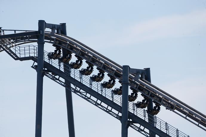 The Arkham Asylum ride at Movie World malfunctioned on 10 January 2017, with dozens of passengers left stranded on the rollercoaster. Source: Getty Images