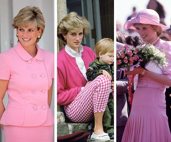 Reigning style icon of her time, Princess Diana embraced pink with the same vigour as everyone else in the '80s.