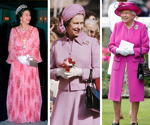 We could dedicate a whole gallery to the times Queen Elizabeth II has donned pink during her 66 years on the throne.