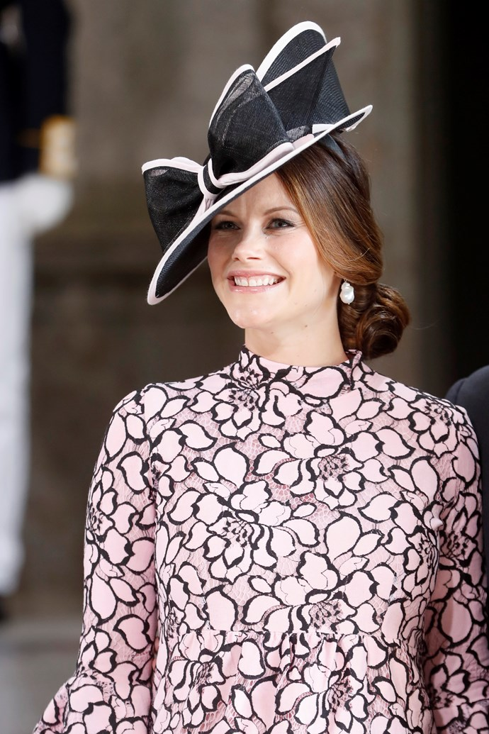 Speaking of Princess Sofia, the then-pregnant monarch opted for a millennial pink dress and matching hat trim at a thanksgiving service.