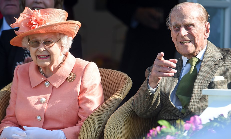 Taking time out from retiring to accompany the Queen to the polo.