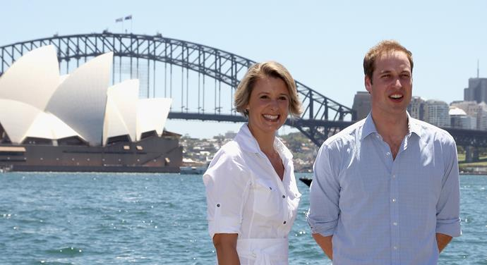 Senator Keneally, with the Duke of Cambridge, in January 2010 while she was Premier of New South Wales.
