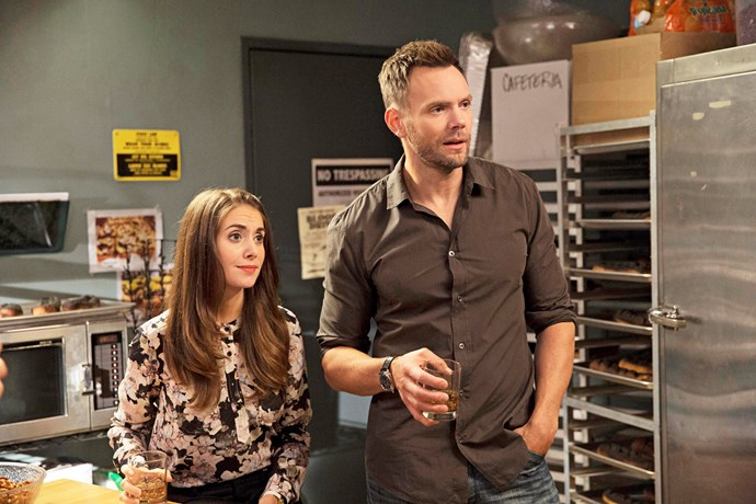 Alison with Joel McHale in *Community.*
