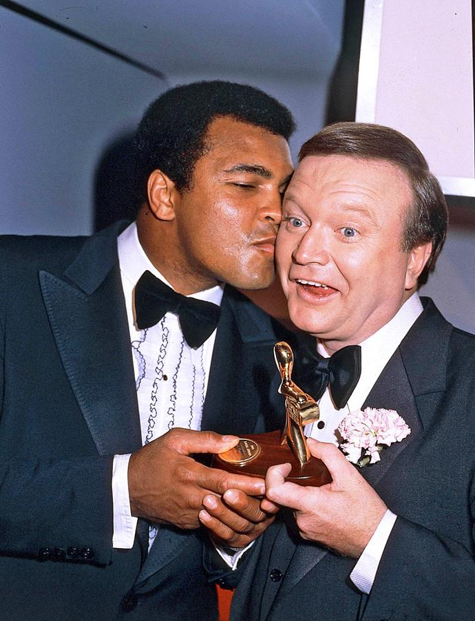 Bert scored a kiss from the boxing champion.