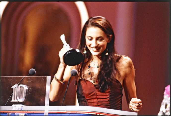 Georgie accepted her Logie award for Most Popular New Talent in 1990.