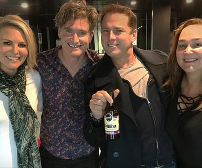 The *Today* show host paid a visit to *Hughesy & Kate*.