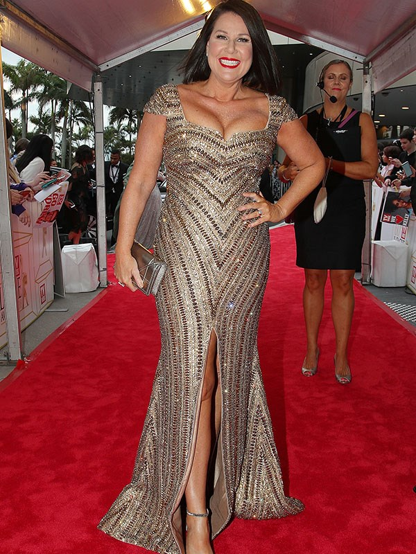 Julia Morris is glittering brighter than a Gold Logie in this sequinned, beaded get-up.