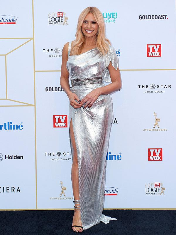 And the Logie for most visible dress from outerspace goes to... Sonia Kruger! The veteran TV presenter is shining as bright as a Logie on the red carpet.