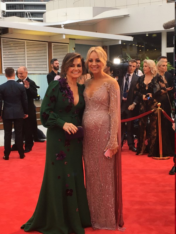 Thick as red-carpet thieves! Channel 10-ers Lisa Wilkinson and Carrie Bickmore smile BIG at the Logies.