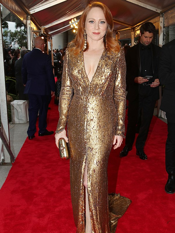 Shining brighter than a Gold Logie, Hayley McElhinney's eye-catching look is a winner in our books!