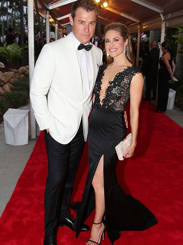 Doctor, doctor! Red-hot couple, Rodger Corser and his wife Renae Berry, have set our pulses racing with this Bond-and-Bond-Girl Logies' pose.