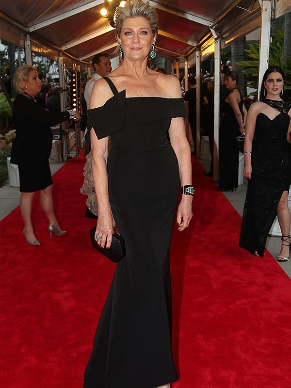 Chic, elegant and forever classic, Tina Bursill is a mirror image of Sharon Stone. Gorgeous!