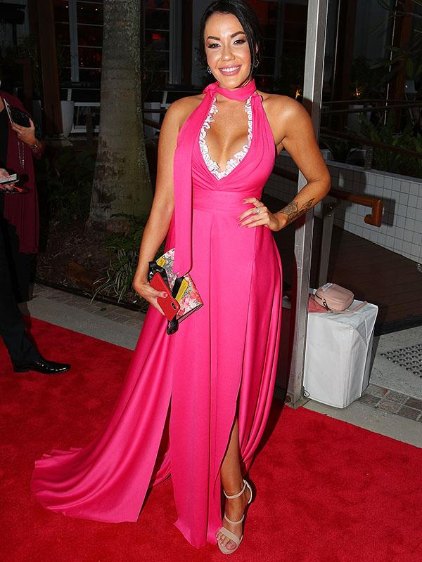 *Married At First Sight*'s Davina Rankin has certainly set heads turning in her fluro-pink evening gown.