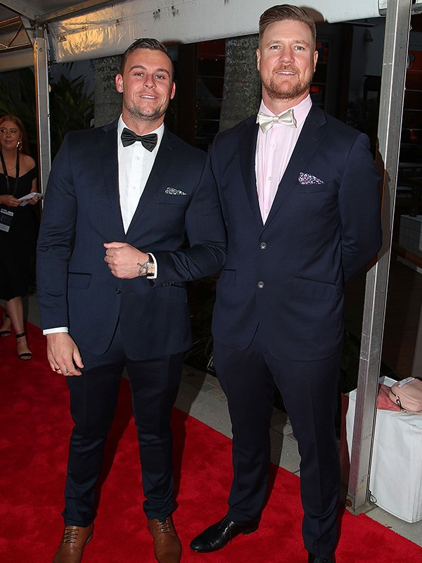 *Married At First Sight*'s Ryan Gallagher and Dean Wells are matchy-matchy on the Logies' red carpet.