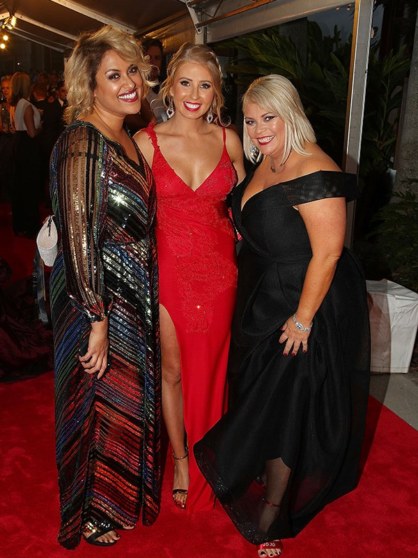 MAFS' Charlene, Ashley and Foxy Jojo looking as gorgeous as ever at the Logies.