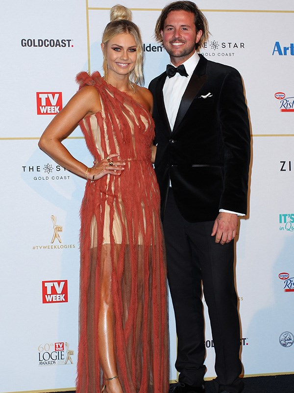*The Block*'s Josh Barker and Elyse Knowles have put down the tools for a night on the town at the TV Week Logies.