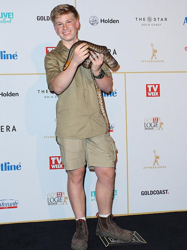We had heard that Bob Irwin would be attending the Logies with his mum, Terri, but apparently this slippery snake has taken her place!