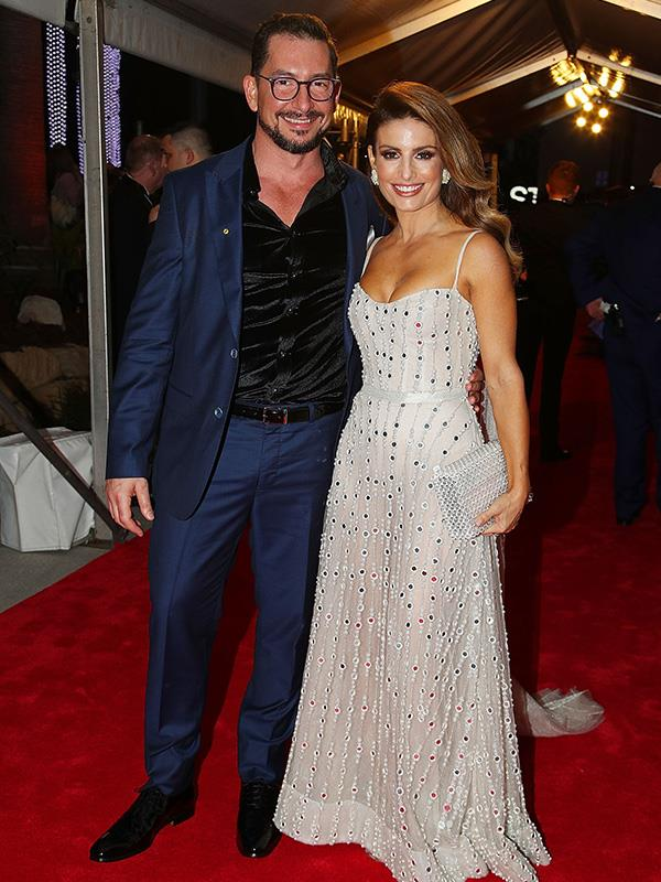 And here Ada is with her beau, Adam Rigby, as the couple make their first-ever red carpet appearance together at the Logies.