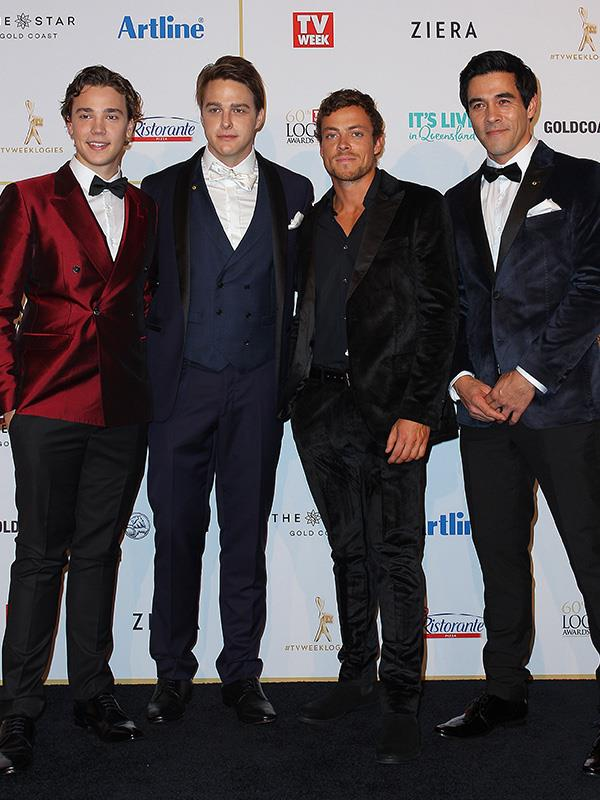 Home And Away actors Lukas Radovich, Tim Franklin, Patrick O'Connor and James Stewart have left Summer Bay for the Gold Coast.