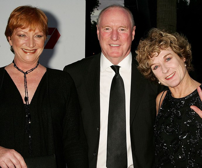 *Home and Away* stars Cornelia Frances, Ray Meagher and Judy Nunn.