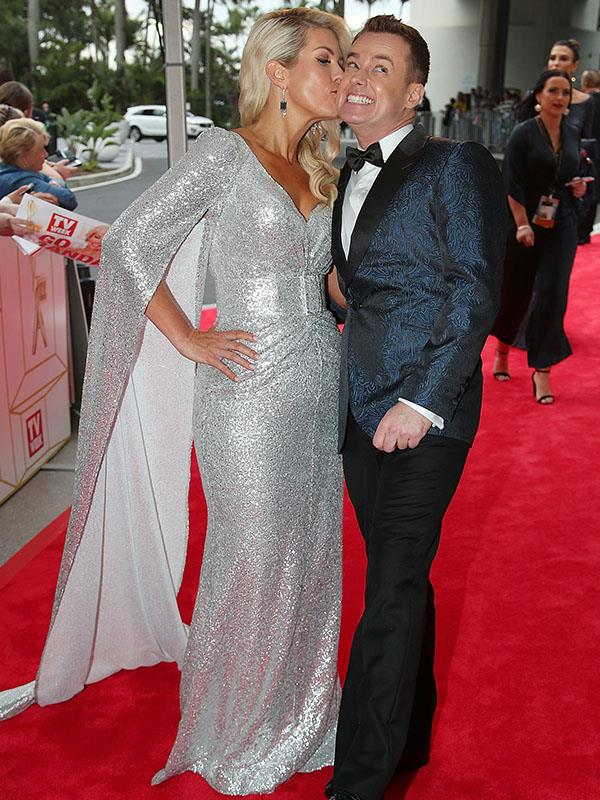 Grant and Cheryl Denyer - the Gold Logie winner dedicated his award to his wife.