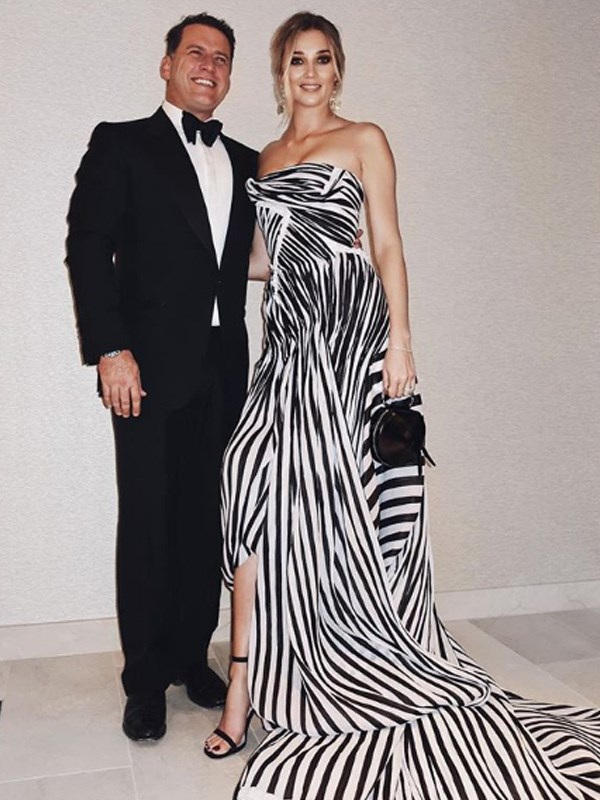Karl and Jasmine all frocked up for the Logies.
