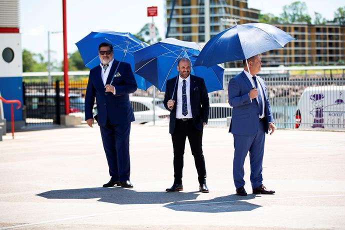 Always suave, Matt, George and Gary.