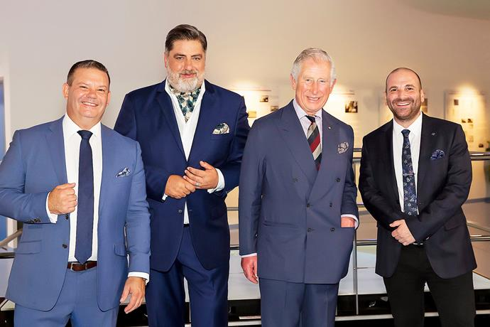 Gary Mehigan, Matt Preston, Prince Charles and George Calombaris.