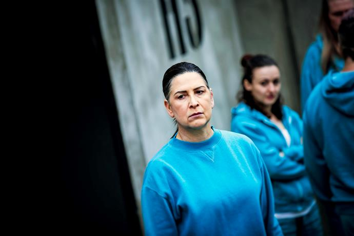 Pamela Rabe as Joan 'The Freak' Ferguson in *Wentworth.*