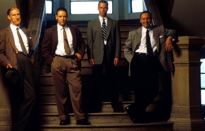 Kevin Spacey and Guy Pearce worked together on *L.A. Confidential*.