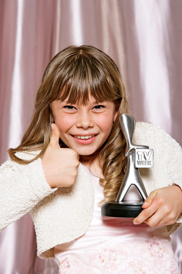 Bindi Irwin with her Logie award.