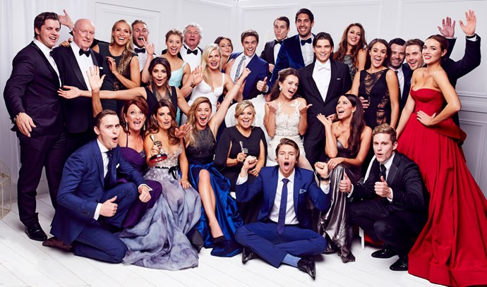 The *Home and Away* cast are inducted in to the TV WEEK Logie Awards Hall of Fame in 2015.