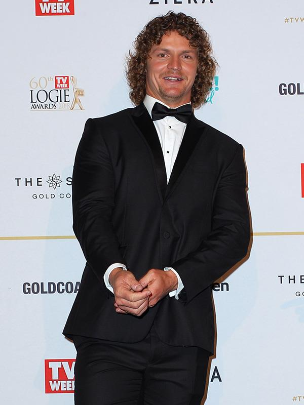 The Honey Badger before he let loose at the Logies' afterparty...