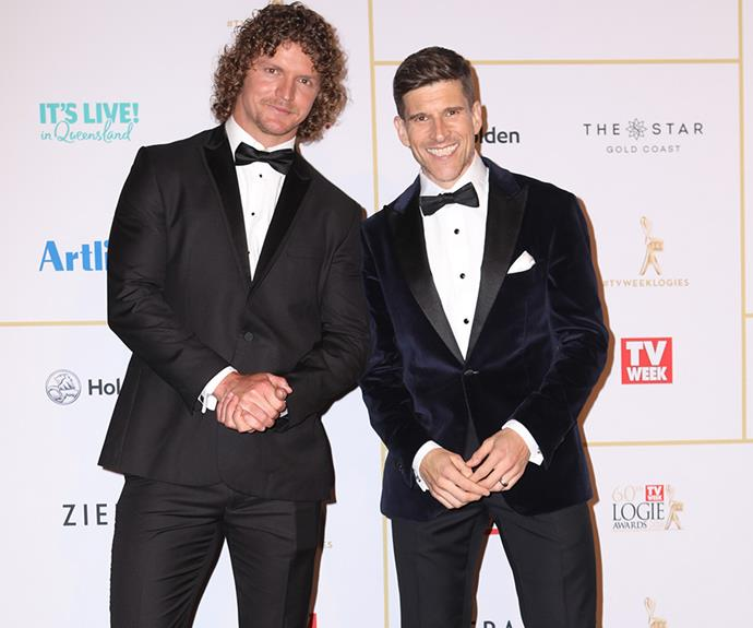 What a cheeky pair! *NW* caught up with Bachie boys Osher and Nick on the Logies red carpet.