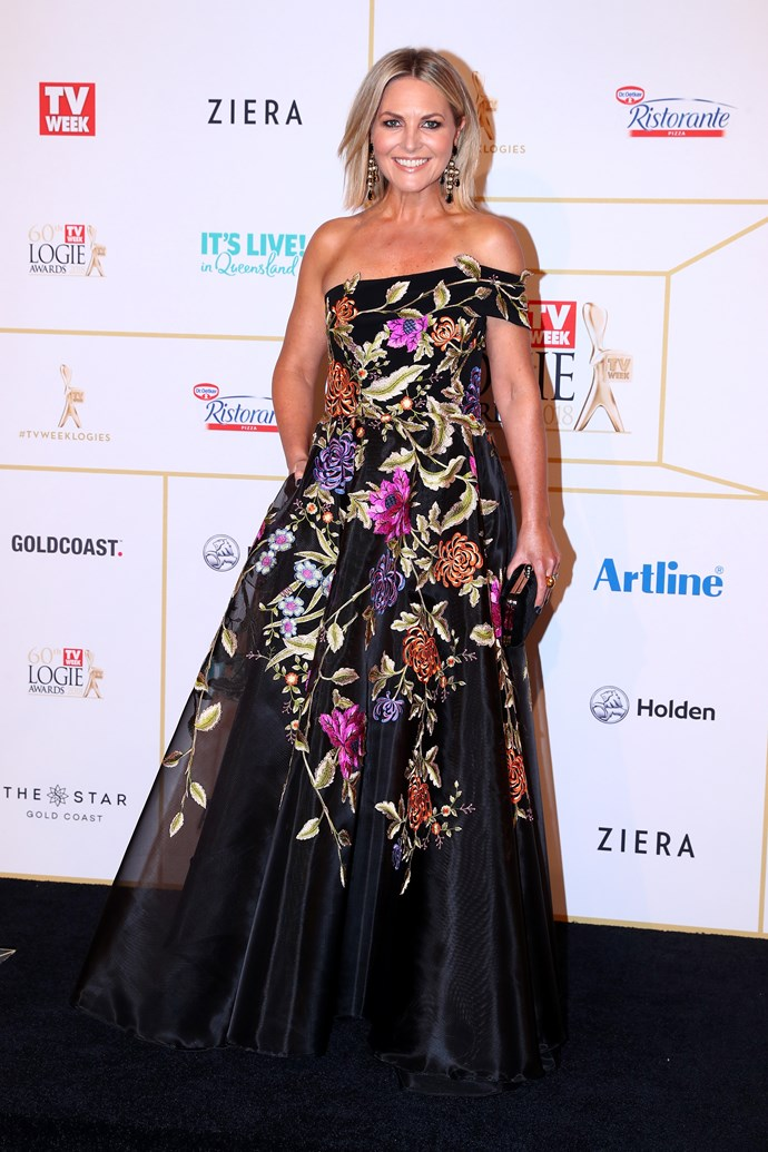 Georgie flying solo at the Logies.