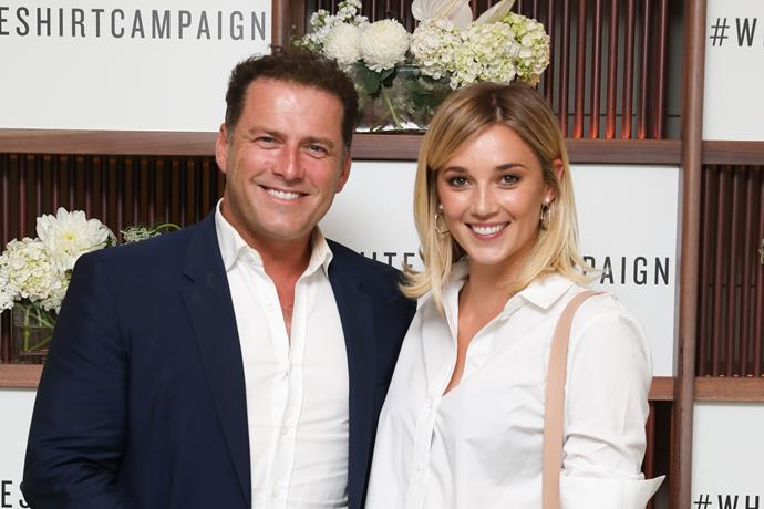 Karl's used to being able to take Jasmine along to every event he's invited to - but things weren't as black and white at the Logies.