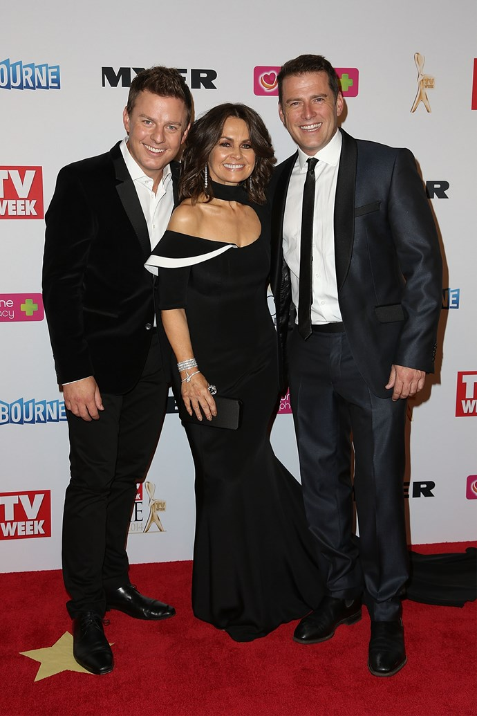 Ben with Lisa and Karl at the 2014 Logies.