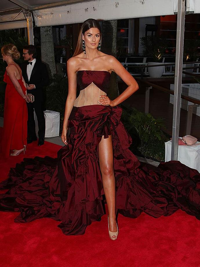 Cheryl's dress caused her a bit of trouble on the Logies red carpet!