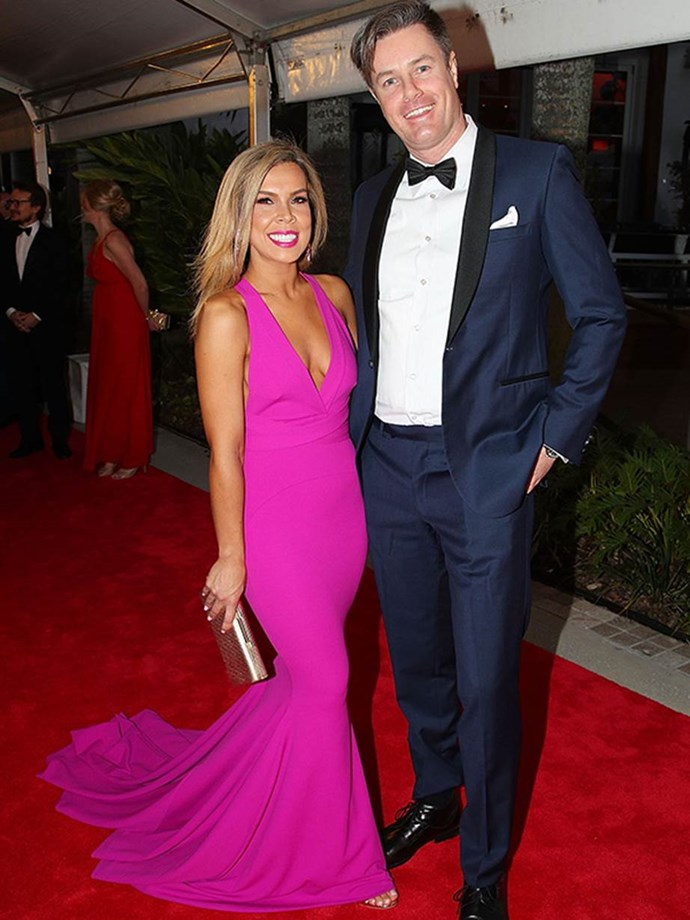 Date night! Partner swappers Carly and Troy enjoyed their first Logies together.
