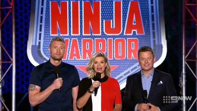 Freddie, Rebecca and Ben have the dream job in presenting on *Ninja Warrior Australia*.