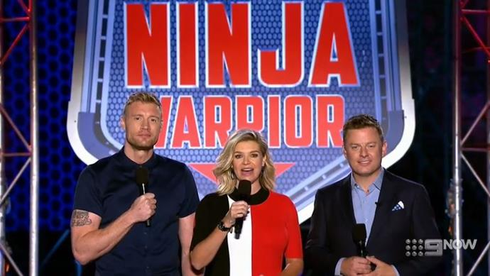 Freddie, Rebecca and Ben have the dream job in presenting on *Ninja Warrior Australia*.