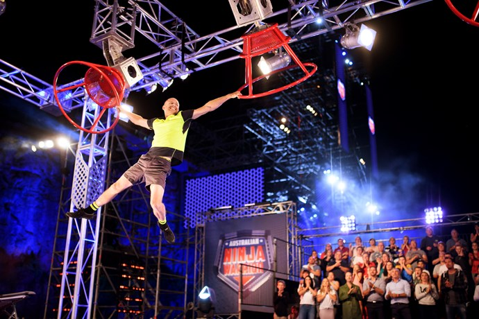Sam competes in *Australian Ninja Warrior*.