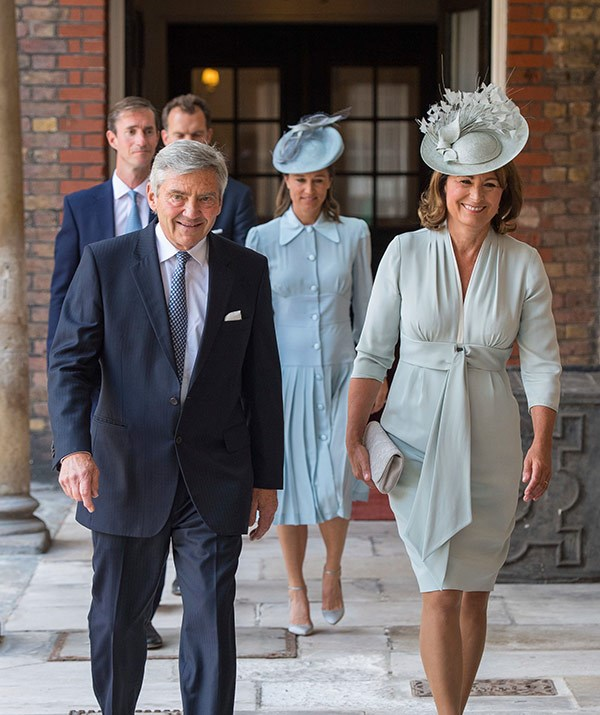 Proud grandparents Michael and Carole Middleton.