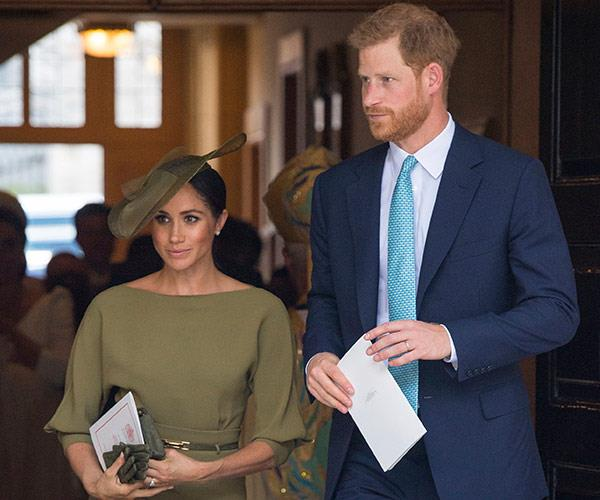 Meghan opted for a khaki dress by Ralph Lauren.