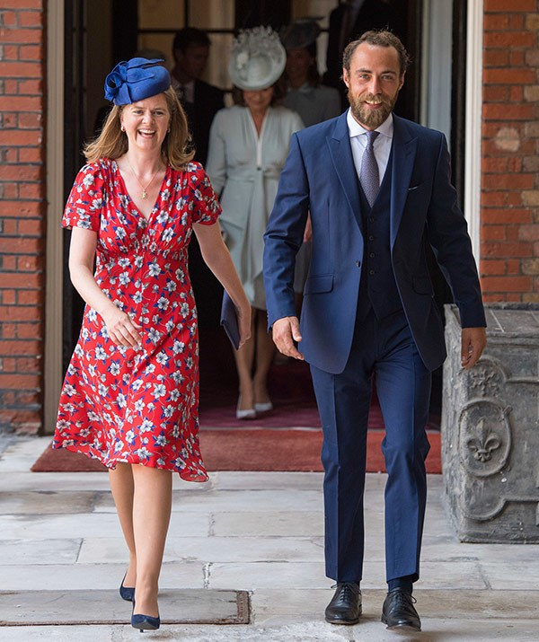 James Middleton joins Prince Louis' godmother, Lady Laura Meade.