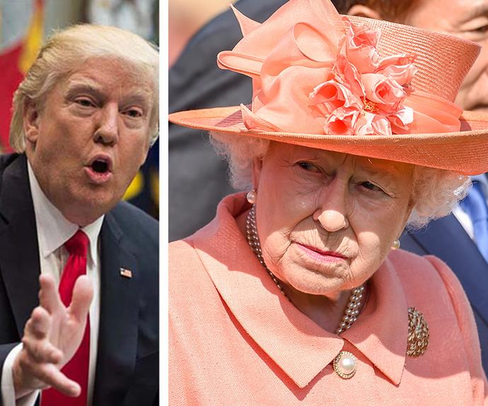 Is the Queen trying to avoid President Trump when he visits the UK?